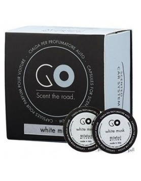 Millefiori Go Car diffuser refill - white musk - 2 PC