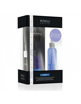 Millefiori Giftset geurstokjes Cold Water + roomspray