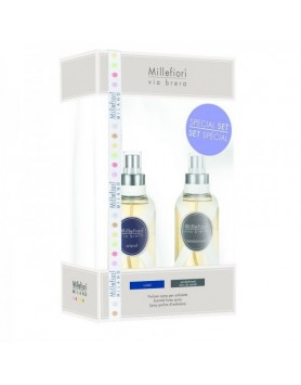 Millefiori Via Brera giftset roomspray Sandalwood + Crystal 150ml