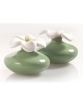 Millefiori Air Design Scent Flower mini green - 2 PC