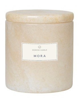 Blomus Frable Mora scented candle marble moonbeam