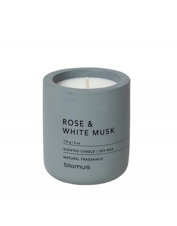 Blomus Fraga scented candle concrete M rose - white musk