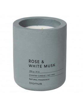 Blomus Fraga scented candle concrete L rose - white musk