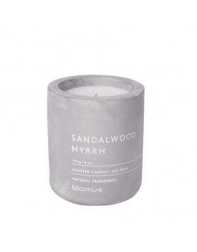 Blomus Fraga scented candle concrete M sandelwood - myrrh
