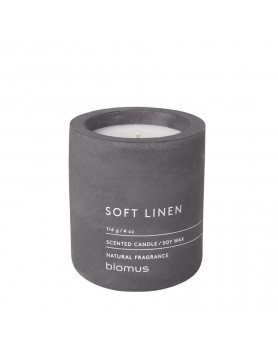 Blomus Fraga scented candle concrete M magnet - soft linnen