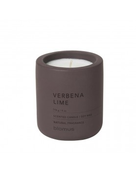 Blomus Fraga scented candle concrete M verbena lime