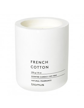 Blomus Fraga scented candle concrete L white - french cotton